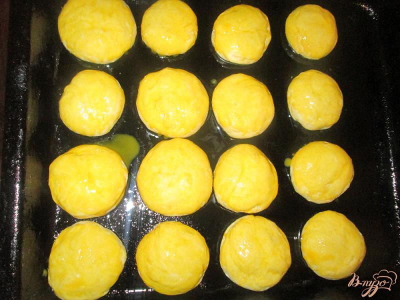 Фото приготовление рецепта: Пампушки на воде с часником шаг №8