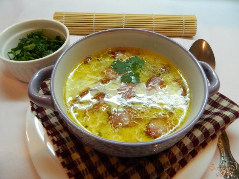 Фото приготовление рецепта: Суп с охотничьими колбасками шаг №7