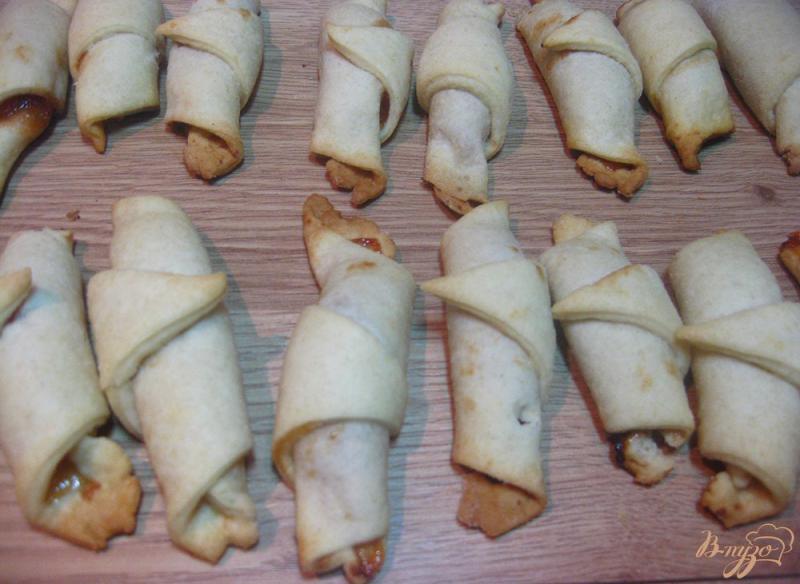 Песочные дрожжевые рогалики с вареньем - рецепт пошаговый с фото