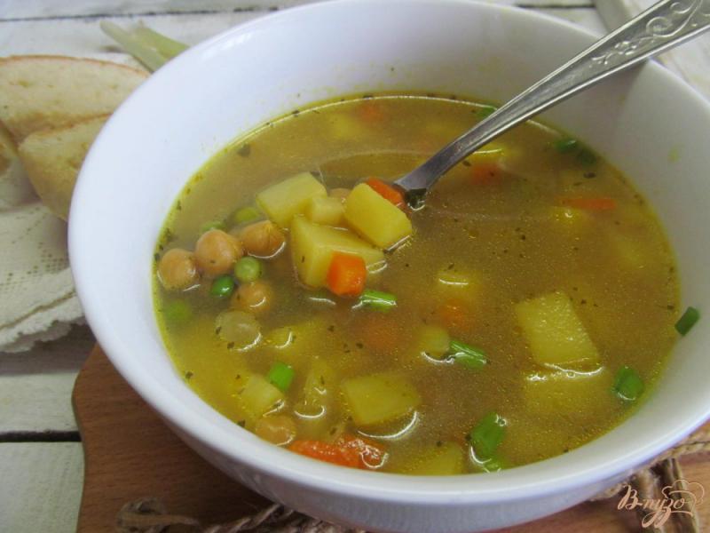 Фото приготовление рецепта: Суп на бульоне из баранины с нутом шаг №8