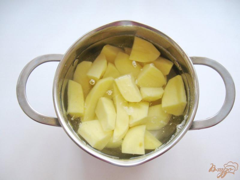 Фото приготовление рецепта: Картофельное пюре с луком и сыром шаг №1