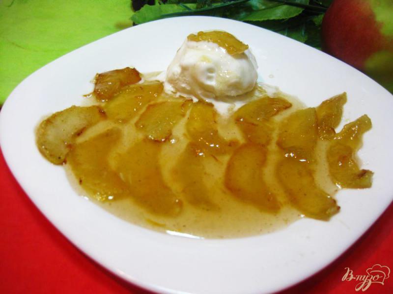 Фото приготовление рецепта: Яблоки карамелизированные с мороженым шаг №10