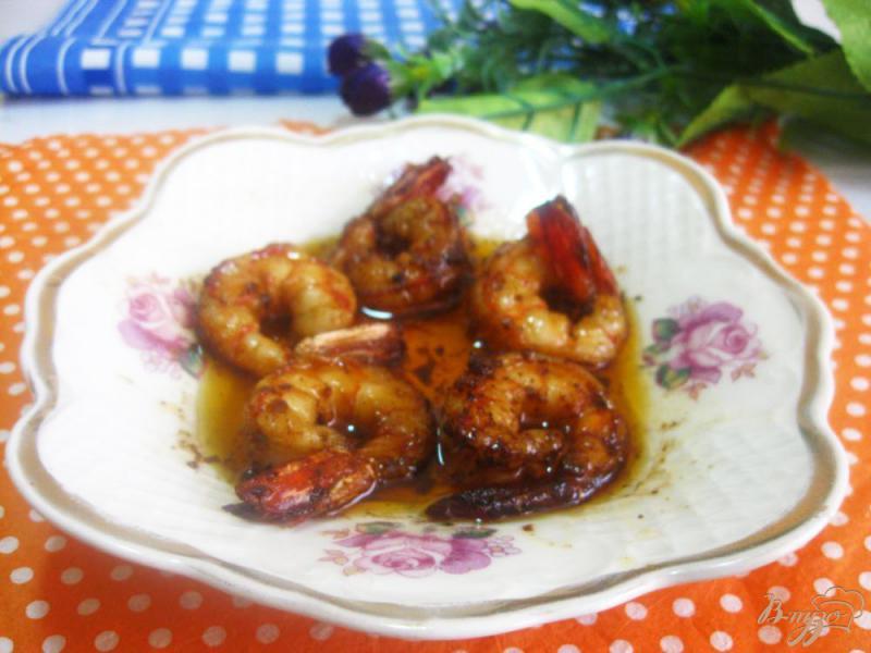 Фото приготовление рецепта: Креветки в соево-чесночном соусе шаг №10