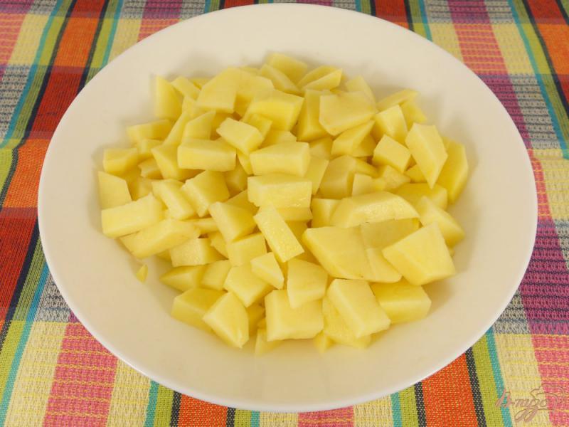 Фото приготовление рецепта: Картофельный суп с колбасой шаг №1