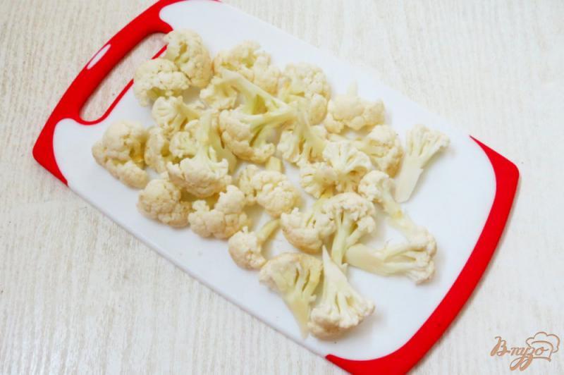 Фото приготовление рецепта: Запеканка из цветной капусты с яйцом и сыром шаг №1