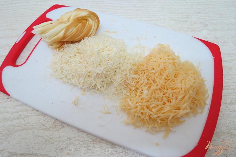 Фото приготовление рецепта: Запеканка из цветной капусты с яйцом и сыром шаг №4