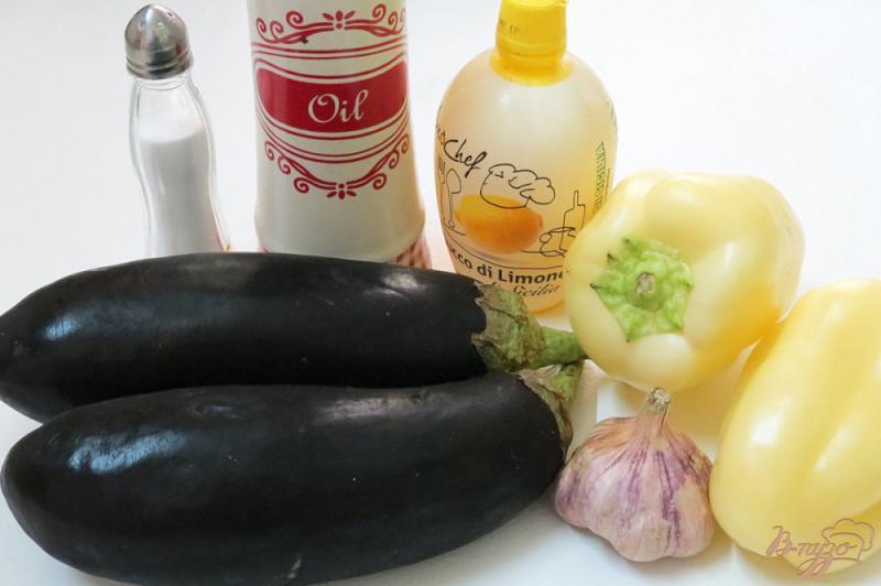 Фото приготовление рецепта: Закуска из запеченных баклажанов и перца шаг №1