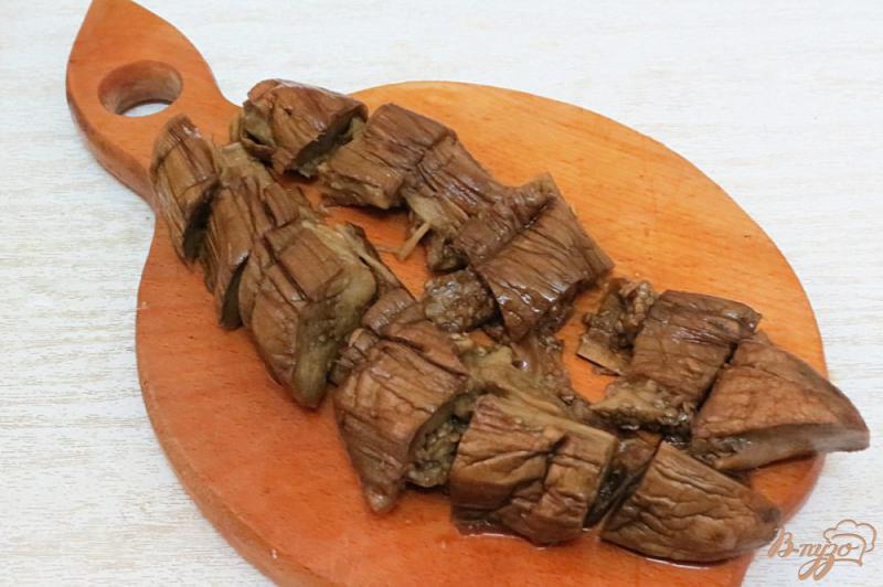 Фото приготовление рецепта: Закуска из запеченных баклажанов и перца шаг №6