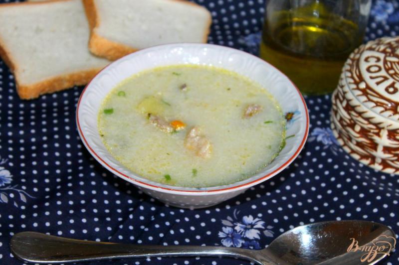 Фото приготовление рецепта: Картофельный суп с курицей и сливками шаг №7