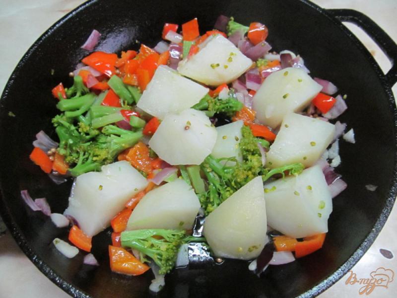 Фото приготовление рецепта: Овощное рагу диетическое шаг №4