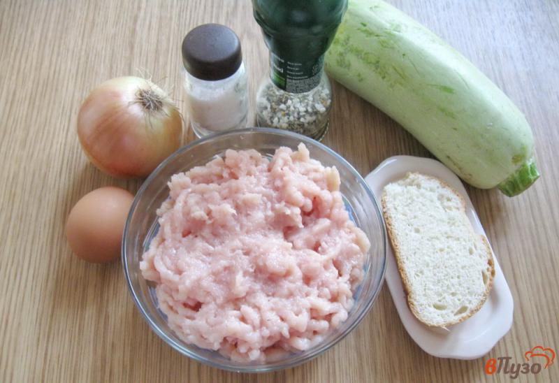 Фото приготовление рецепта: Куриные котлеты с кабачками на пару шаг №1