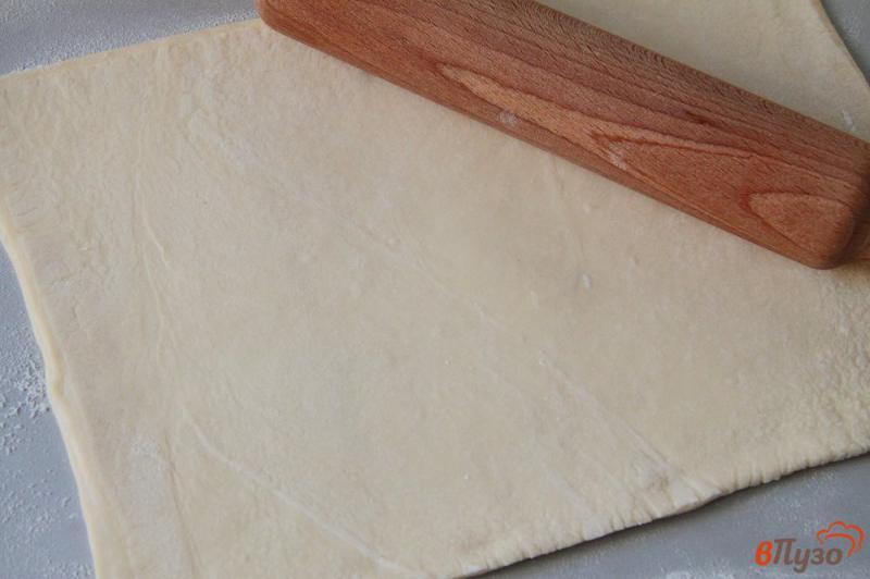 Открытый творожный пирог из слоеного теста - рецепт пошаговый с фото