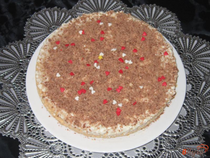 Фото приготовление рецепта: Вафельный торт с творожным кремом шаг №7