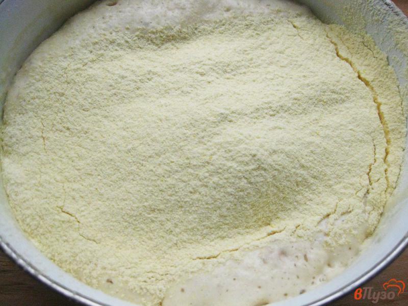 Фото приготовление рецепта: Лепешка кукурузная дрожжевая шаг №4