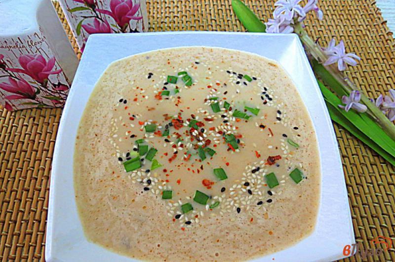 Фото приготовление рецепта: Суп пюре с лососем и сливками шаг №9