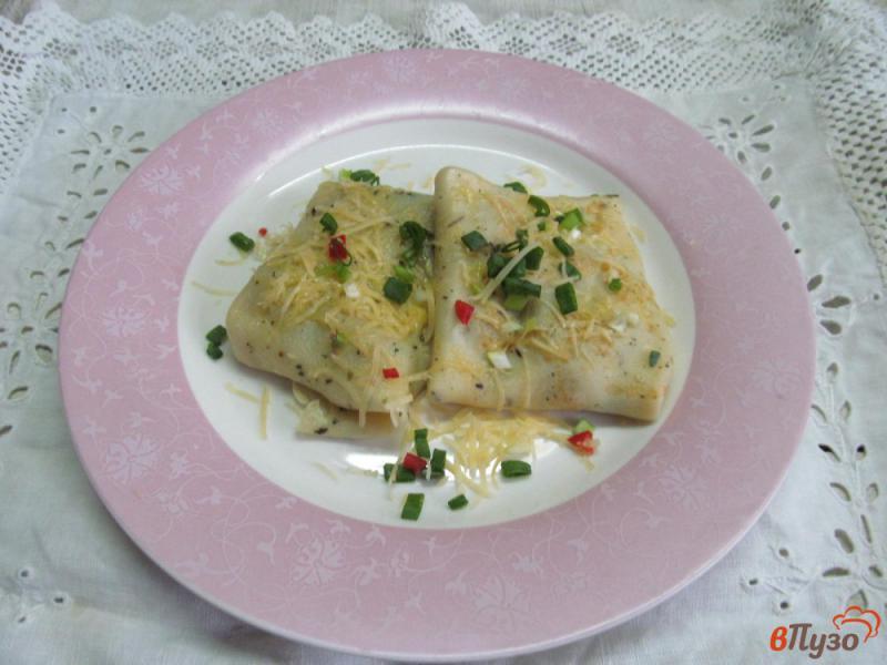 Фото приготовление рецепта: Французские блинчики с начинкой из грибов шаг №8