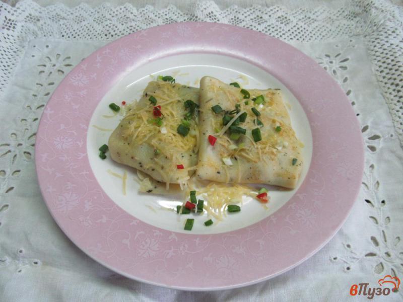 Фото приготовление рецепта: Французские блинчики с начинкой из грибов шаг №9