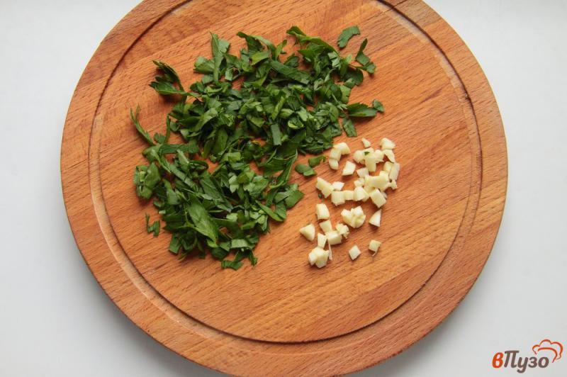 Фото приготовление рецепта: Суп с баклажанами на курином бульоне шаг №8