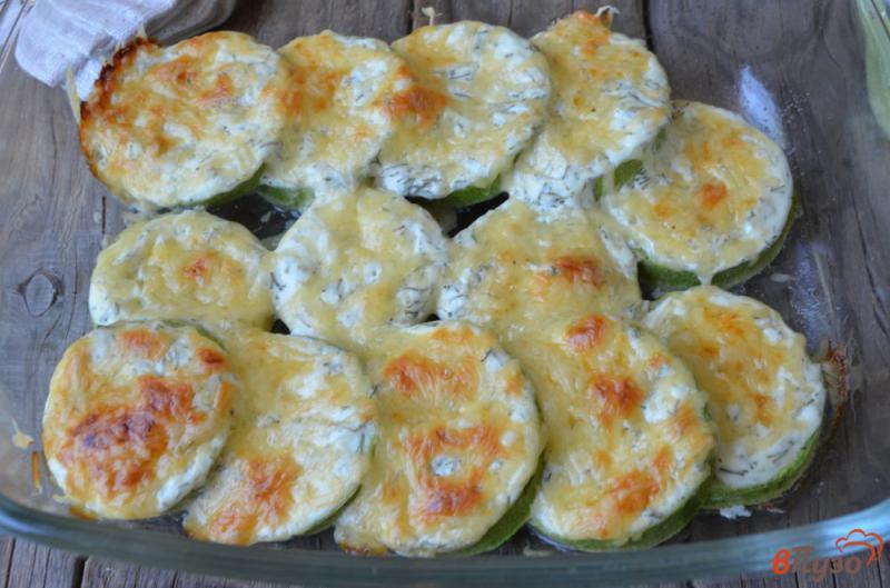 Фото приготовление рецепта: Кабачки в духовке в сметане с сыром шаг №6