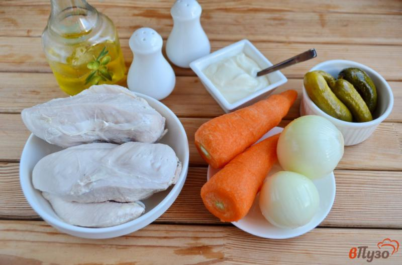Фото приготовление рецепта: Салат «Обжорка» с курицей шаг №1