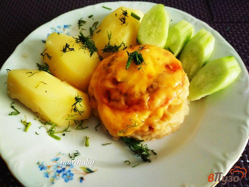 Фото приготовление рецепта: Медальоны из филе хека в духовке шаг №7