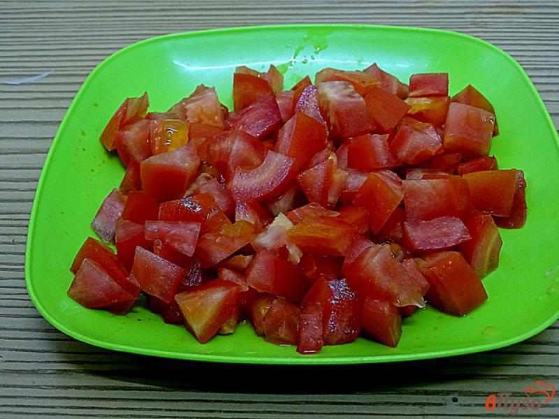 Фото приготовление рецепта: Болгарский перец с помидорами на сковороде шаг №6
