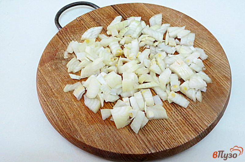 Фото приготовление рецепта: Ленивые голубцы рисом,фаршем и грибами шаг №2