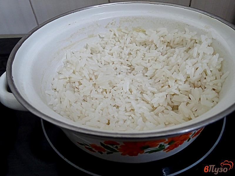 Фото приготовление рецепта: Ленивые голубцы рисом,фаршем и грибами шаг №6