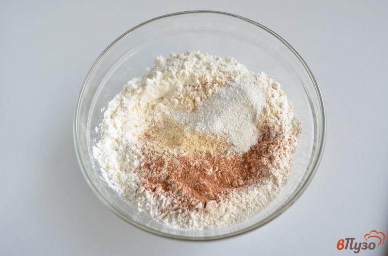 Фото приготовление рецепта: Печенье на ёлочку шаг №2