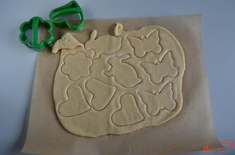 Фото приготовление рецепта: Печенье на ёлочку шаг №10