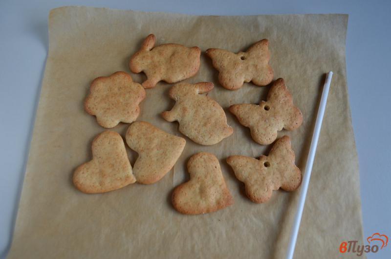 Фото приготовление рецепта: Печенье на ёлочку шаг №12