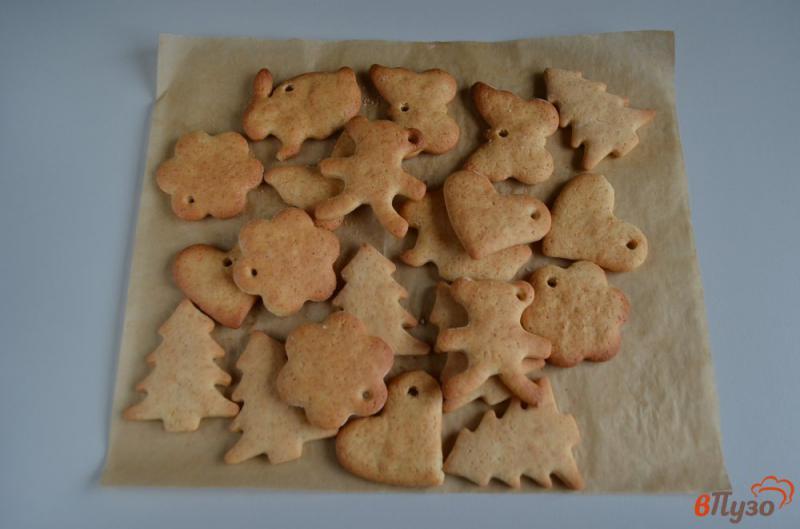 Фото приготовление рецепта: Печенье на ёлочку шаг №14