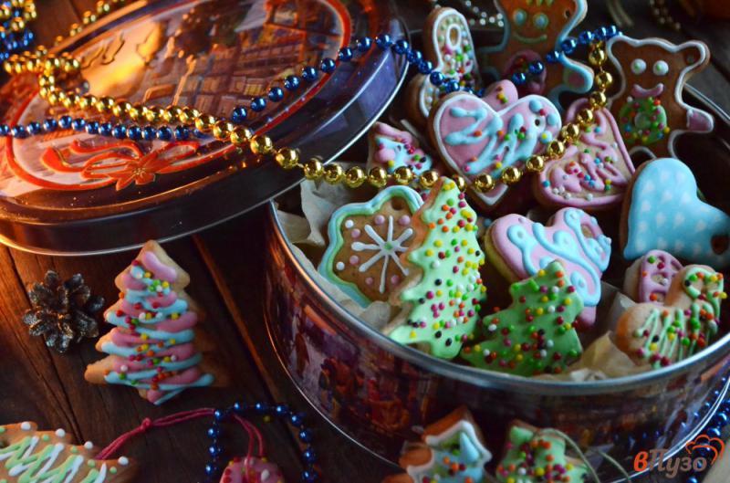 Фото приготовление рецепта: Печенье на ёлочку шаг №22
