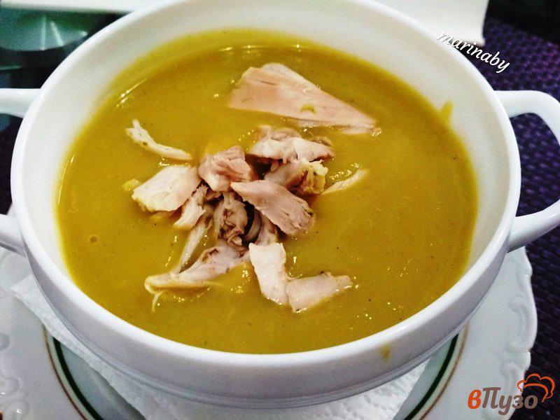 Фото приготовление рецепта: Суп-пюре из брокколи и цветной капусты с курицей шаг №11