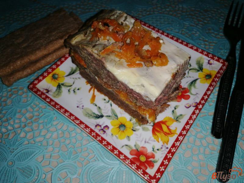 Фото приготовление рецепта: Запеканка из печени слоеная шаг №19