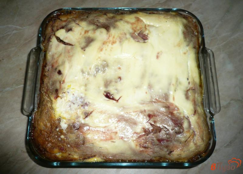Фото приготовление рецепта: Запеканка из печени слоеная шаг №18