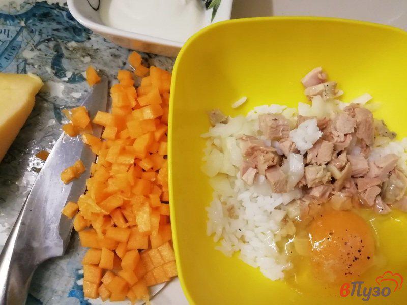 Фото приготовление рецепта: Тыквенно-рисовая запеканка с индейкой шаг №2