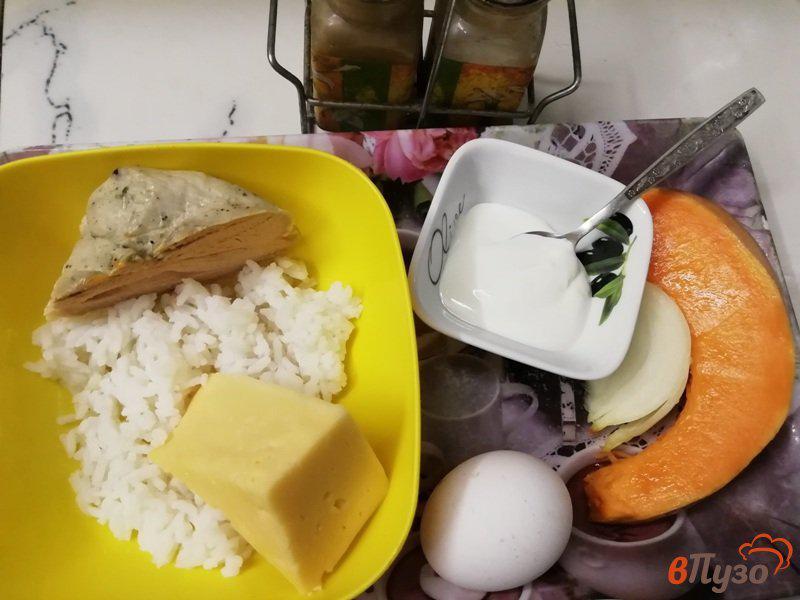 Фото приготовление рецепта: Тыквенно-рисовая запеканка с индейкой шаг №1