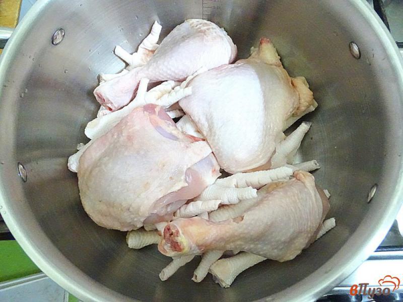 Фото приготовление рецепта: Холодец диетический бюджетный шаг №3