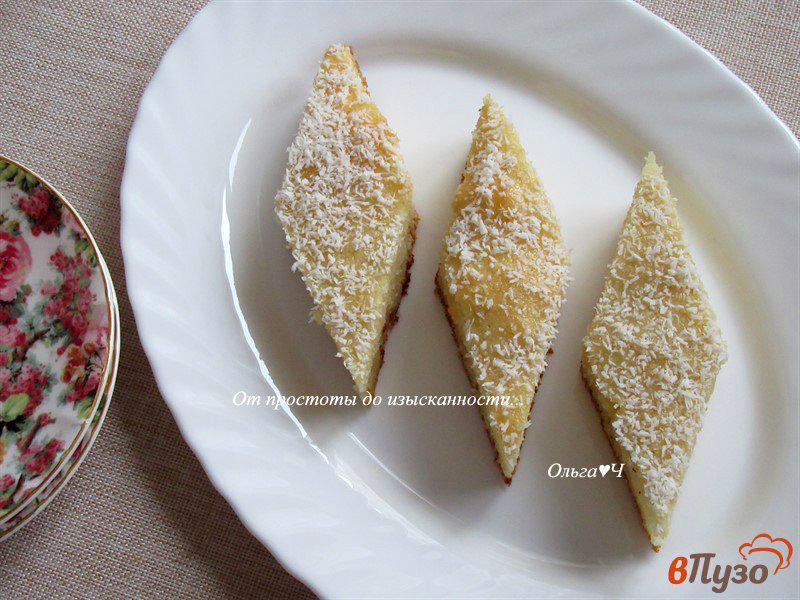 Фото приготовление рецепта: Ревани с мятным сиропом шаг №6