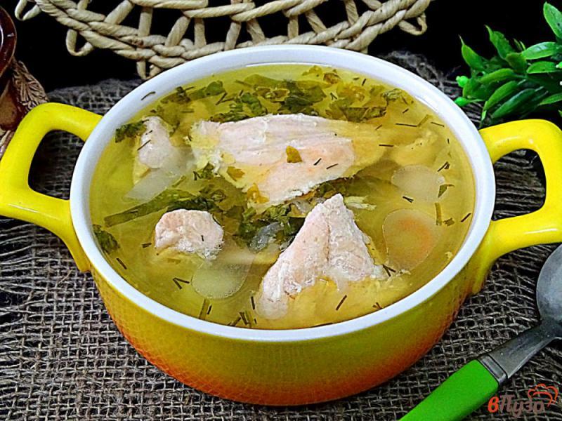 Фото приготовление рецепта: Суп с лососем и рисом шаг №6