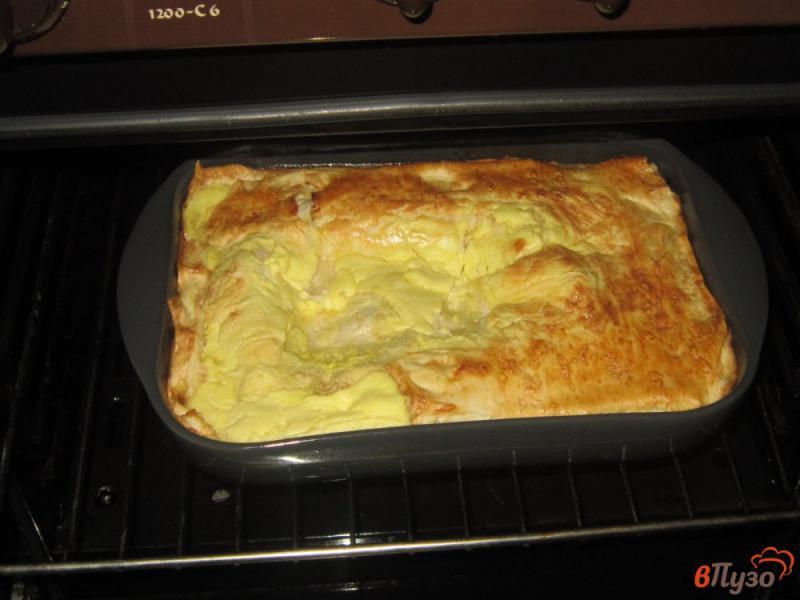 Фото приготовление рецепта: Ачма из лаваша с яйцом и сыром шаг №15