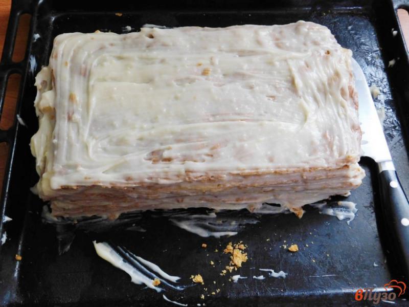 Фото приготовление рецепта: Торт Наполеон из готового слоеного теста шаг №9