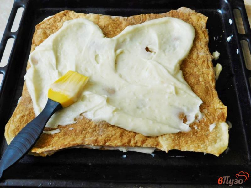 Фото приготовление рецепта: Торт Наполеон из готового слоеного теста шаг №8