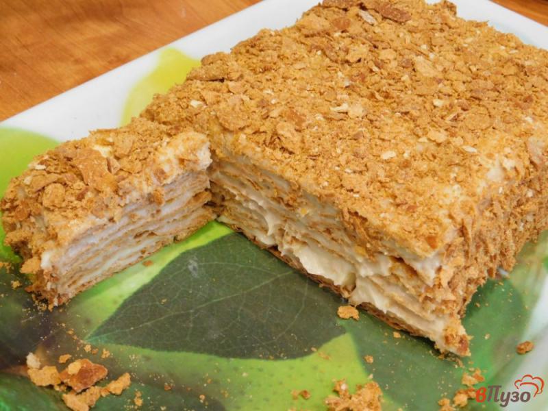 Фото приготовление рецепта: Торт Наполеон из готового слоеного теста шаг №10