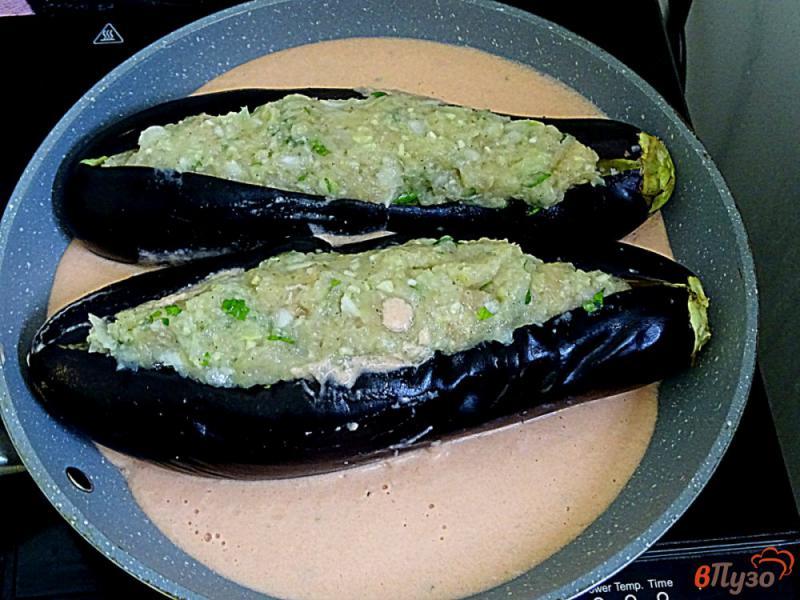 Фото приготовление рецепта: Карныярык (фаршированные баклажаны по-турецки) шаг №10