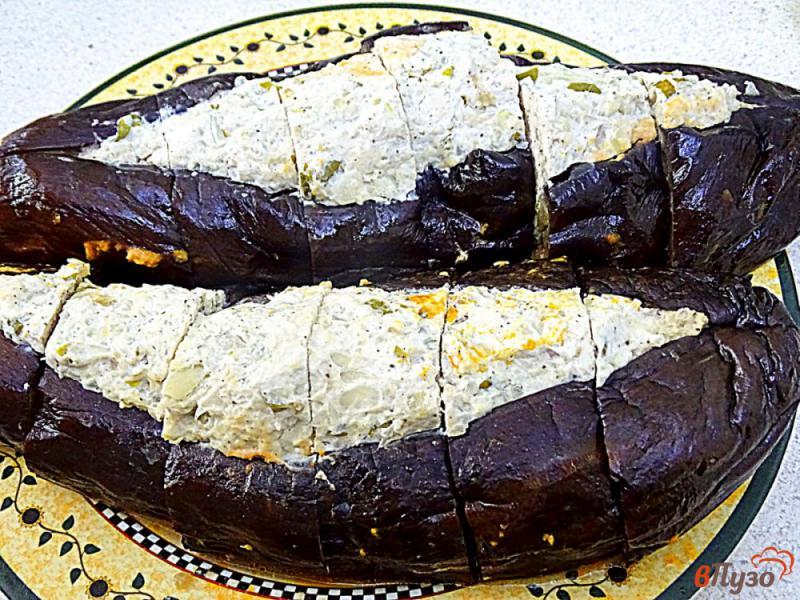 Фото приготовление рецепта: Карныярык (фаршированные баклажаны по-турецки) шаг №11