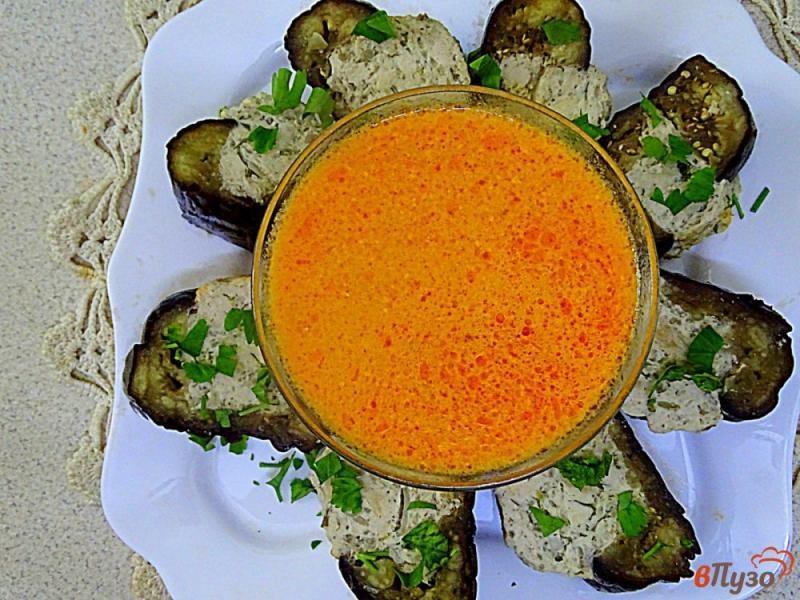 Фото приготовление рецепта: Карныярык (фаршированные баклажаны по-турецки) шаг №14