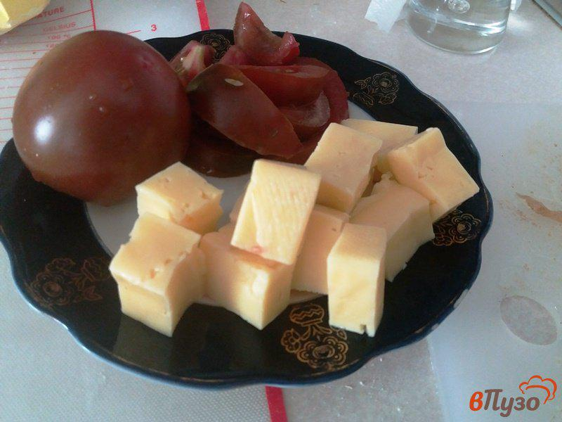Фото приготовление рецепта: Конвертики из слоеного теста с курицей и сулугуни шаг №3