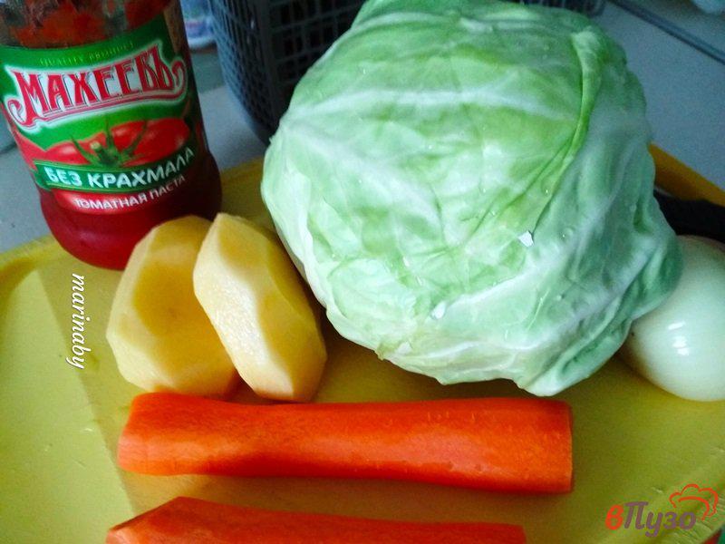 Фото приготовление рецепта: Щи из свежей капусты с курицей шаг №2